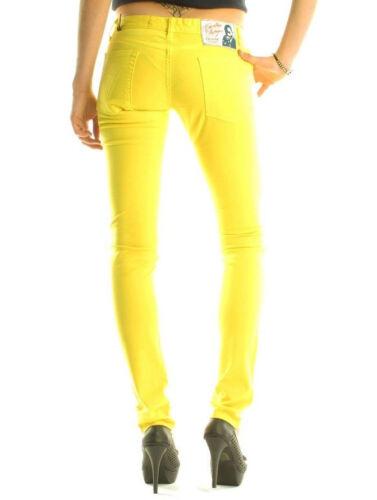 Audigier Designer Luxury Christian gamba dritta donna slim Jeans giallo fit a p8wYq4