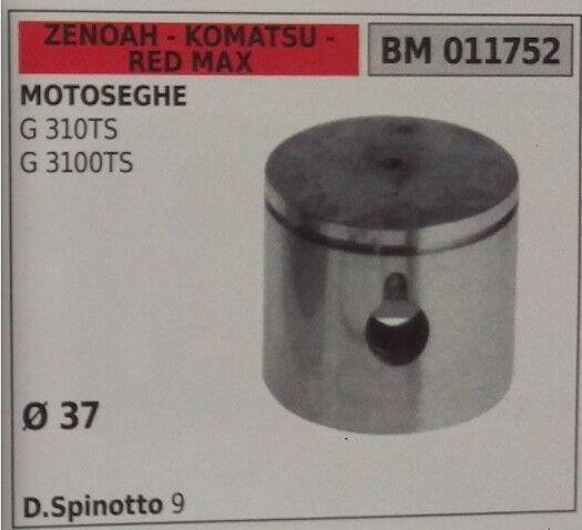 PISTÓN COMPLETO DE SEGMENTOS MOTOSIERRA ZENOAH KOMATSU ROJO MAX G 310TS 3100TS