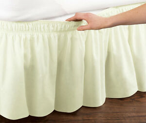 Ivory-Elastic-Ruffled-Bed-Skirt-Wrap-Around-Easy-Fit-Queen-or-King-Sizes