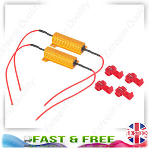 50W-Hid-Load-Resistor-6ohm-Kit-Fix-Hid-Led-Bulb-Flash-And-Can-bus-Warnings