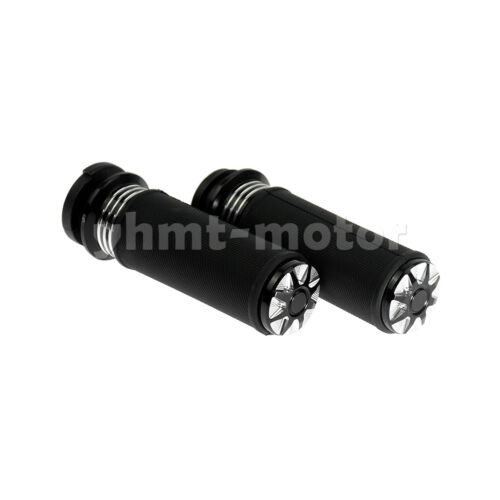 """1/"""" Hand Grips Fit For Electra Glide Touring CVO Handle Bar Electronic Throttle"""