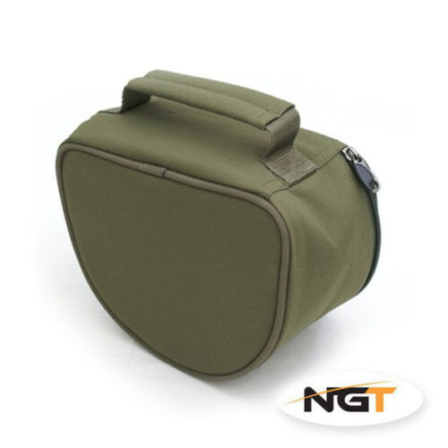 New NGT Padded Fishing Reel Case For Carp//Pike Reels Free P/&P Multi Buy Option