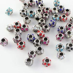 5pcs-Czech-Crystal-Tibetan-Silver-Round-Ball-Charm-Beads-for-European-Bracelet