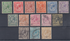 Great-Britain-Sc-159-172-used-1912-1913-KGV-missing-7p-value-otherwise-cplt