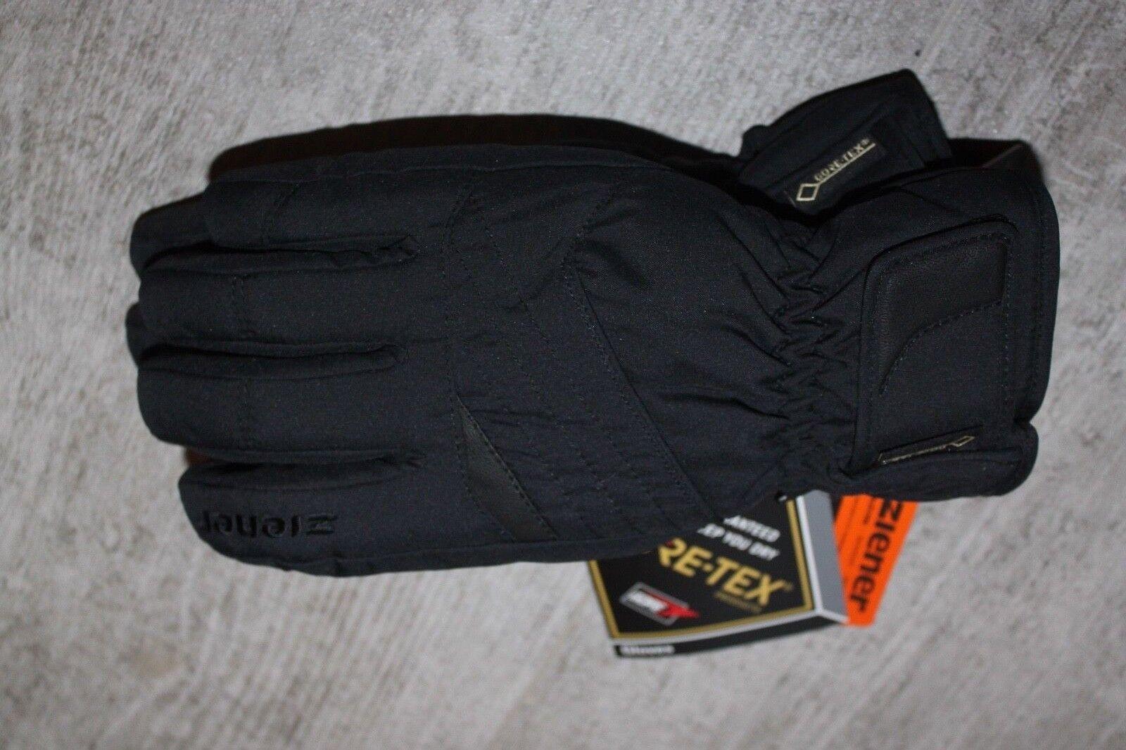 Ziener Herren Ski Snowboard Handschuh 1325 GTX Gore Tex Schwarz alle Größen Neu