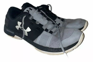 Under-Armour-Mens-Black-Gray-Size-10-Charged-Intake-3-Running-shoes