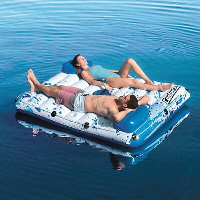 Schwimmliege Luftmatratze Badeinsel Schwimmsessel Pool Lounge Getränk 190 cm