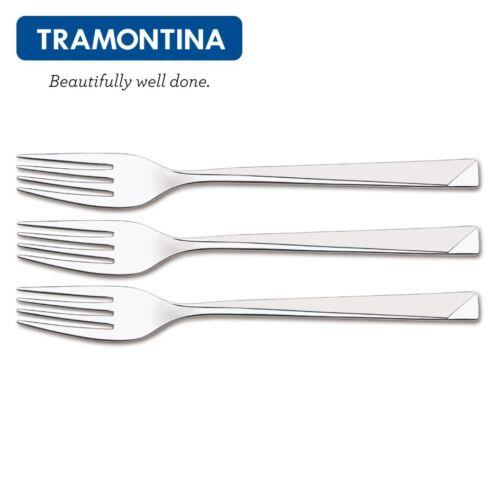 TRAMONTINA Dessert Fork Stainless Steel High Quality Set 3-6-12 Pcs.DALLAS