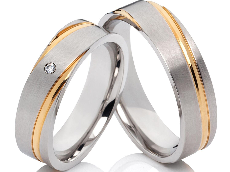 2 fedi fedi fedi nuziali FEDI Matrimoniali Anello di fidanzamento con zirconia & e0782e