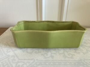 Vintage USA 152 Ceramic Pottery Lime Green Chartreuse Planter