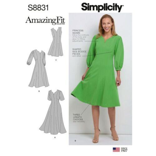 Simplicity Sewing Pattern 8831 para mujer Vestido de ajuste increíble