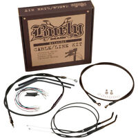 Burly 14 Ape Hanger Extended Cable Kit Harley Sportster Xl Nightster Iron Lo