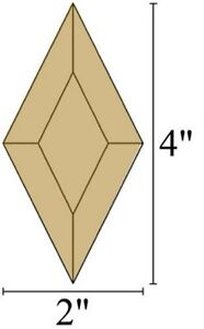 2x4 Diamond Stained Glass Bevels - Box of 30 - BROWN