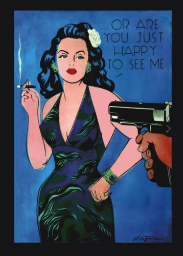 Or Are You Just Happy to See Me by Niagara Detroit 28x20 Poster ART PRINT