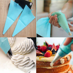 Cake Decorating Bags Homemade : 31cm Silicone Reusable Icing Piping Cream Pastry Bag Cake ...