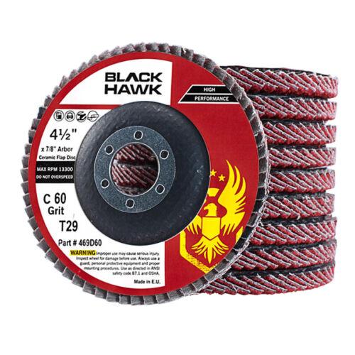 "4-1//2/"" x 7//8/"" Ceramic 36 Grit Flap Discs Premium Grinding Wheels T29 10 Pack"