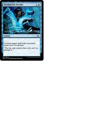 FOIL DISDAINFUL STROKE X4 Guilds Of Ravnica GRN Magic MTG MINT CARD