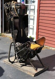 Ultra RARE Early Model Martin Baker Fighter Jet Plane Ejection Chair Seat LOOK!