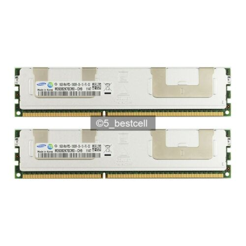 New Samsung 32GB 2X 16GB DDR3 4RX4 PC3-10600R 1333MHz 240Pin ECC REG Server Ram