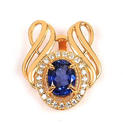 2.00 Carat 14KT Yellow Gold Natural Blue Tanzanite EGL Certified Diamond Pendant