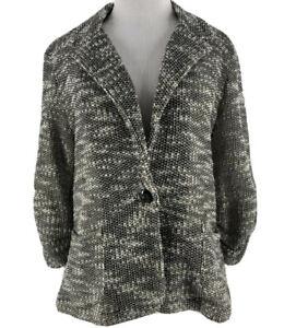 About A Girl Women's Black Single Button Long Sleeve Knit Blazer Size XL NEW