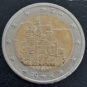 Allemagne Deutschland Germany 2 euro 2012 J Bayern