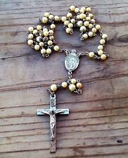 VINTAGE ANTIQUE ROUND PEARLS  Rosary on STERLING SILVER 1830