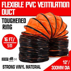 Details about PVC Flexible Duct Hosing 16ft L Φ12 inch Duct Hose for  Exhaust Orange 16'L