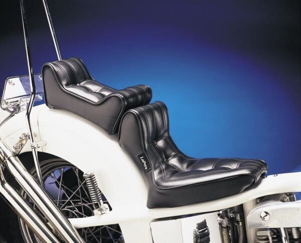 Le Pera L-857P Silhouette Smooth Pillion Rear Seat for Harley FLH//T 91-96