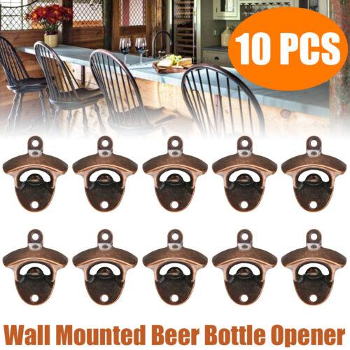 10er Packungen Flaschen Flaschen Öffner An Der Wand Befestigter Antiker Bier ka