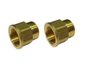 2 x 1/2 Inch BSP MxF Male x Female Brass Tap Thread Extension / Extenders
