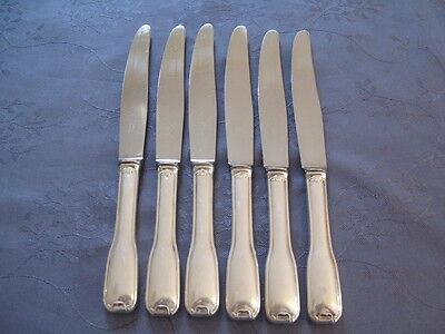 Orfevre Francois Fox Art Deco 6 Grandes Cuchillos De Mesa Other