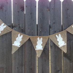 LD-EE-AM-Easter-Banner-Decoration-Burlap-Bunting-Garland-Party-Supply-Photo