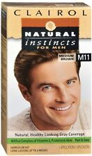Clairol Natural Instincts for Men Hair Color, Medium Brown ...