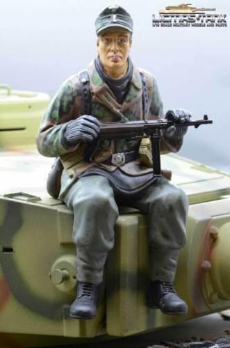 Figur 1//16 Soldat WW2 Erbsentarn deutscher Tank Rider mit MP40 Wehrmacht F1020