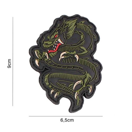 Morale patch airsoft Dragon Samurai 3D PVC hook and loop paintball bike