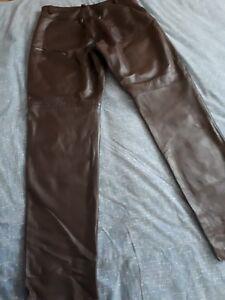 Donna 16l taglia Pelle In Agnello Pantaloni Di Uk Vera Da OqxvwTnY1