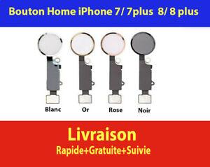 BOUTON HOME FONCTIONNEL + NAPPE IPHONE 7 / 7 PLUS 8 / 8 PLUS BLANC NOIR OR ROSE