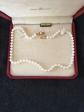 Mikimoto Pearl 6.5 mm 18  Inch Necklace 18k gold clasp