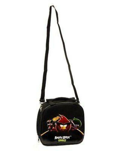 Back To School Angry Birds Space Lunch Box Black Bag with Water Bottle /& Strap