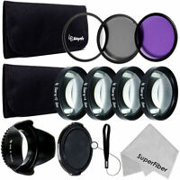 58mm Lens Filter & Close Up Macro Kit For Canon Eos Rebel T6i T5i T5 T4i T3i Sl1 on sale