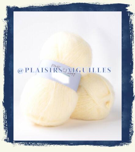 5 pelotes de laine PHIL LIGHT VANILLE Neuve
