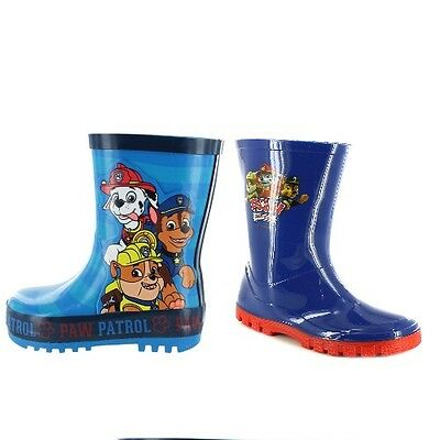 Chicos Paw Patrol Azul Welly Wellington Botas Tallas de Zapatos 6-12 Wellies 2 Diseños