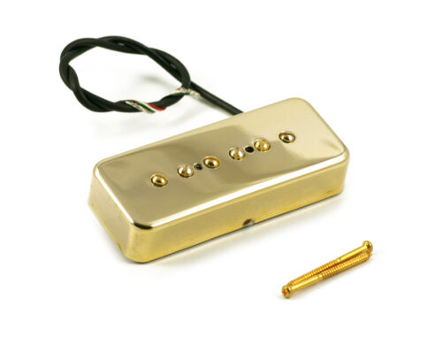 KENT ARMSTRONG STEALTH NOISELESS P90 GOLD METAL COVER BRIDGE HP90BMG