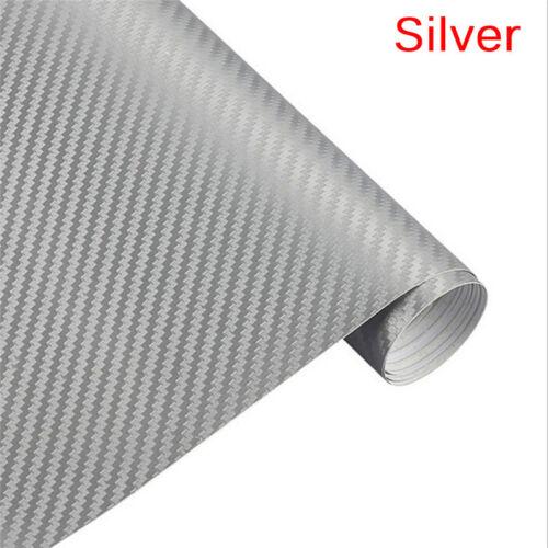 3D Carbon Fiber Matte Vinyl Film Car Sheet Wrap Roll Sticker Decor Multi Size S/&