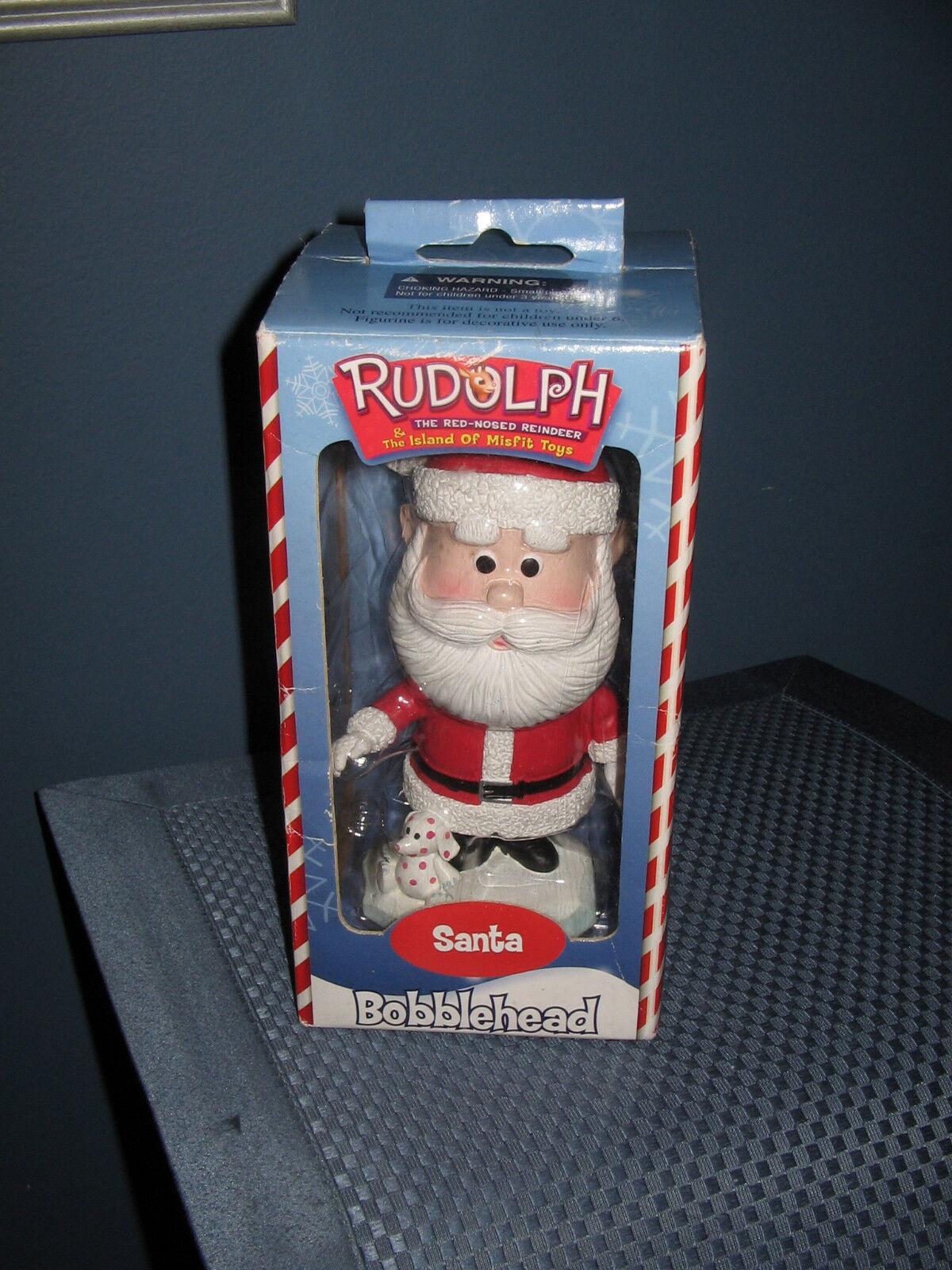 Santa Bobblehead Rudolph Island Misfit Toys Spotted Elephant Christmas 2001 New