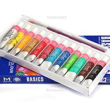 Great Quality 12 Acrylic Color Peinture Acrylique Paint Tube Painting Box Set