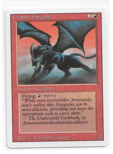 Magic The Gathering ~ 1x Granite Gargoyle ~ REVISED ~ LP