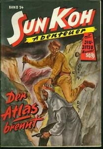 Sun-Koh-Der-Erbe-von-Atlantis-Nr-54-von-1952-TOP-Z1-ORIGINAL-ROMANHEFT-RARITAT