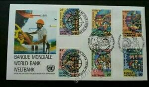 [SJ] United Nations World Bank 1989 (stamp FDC) *3 different PMK *clean